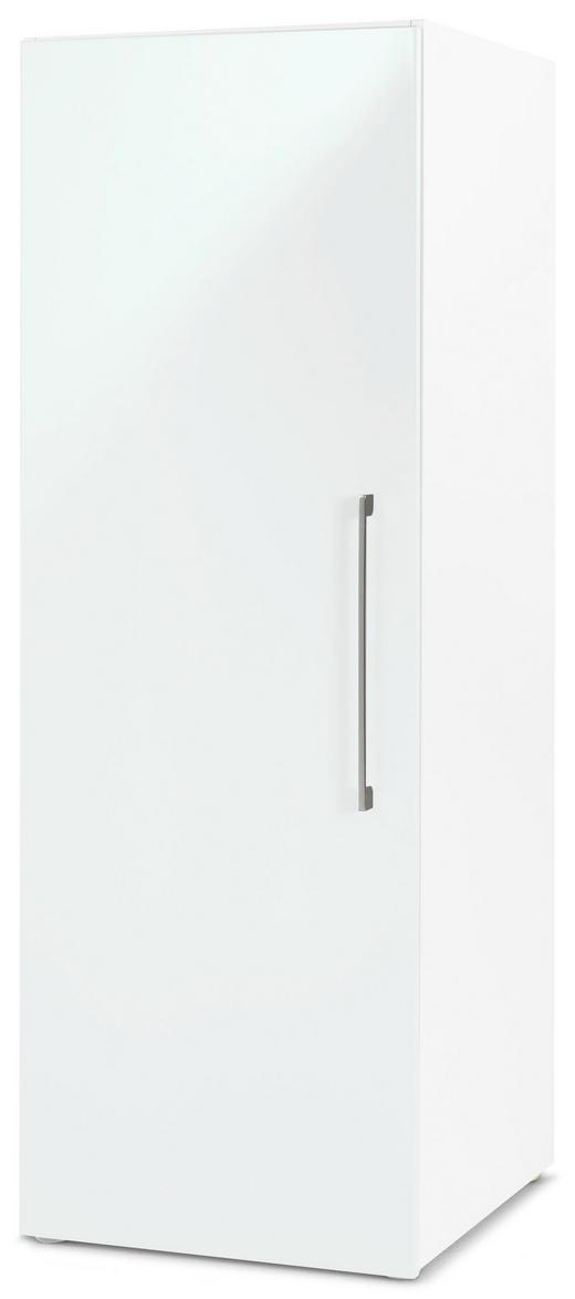 DREHTÜRENSCHRANK 1  -türig Weiß - Chromfarben/Weiß, Design, Holzwerkstoff/Metall (50/144/57cm) - CARRYHOME