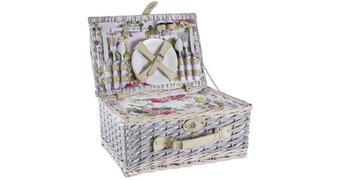 PICKNICKSET - Multicolor, Basics, Leder/Keramik (45,5/18,5/30cm) - Ambia Home