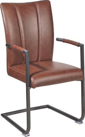 SVIKTSTOL - brun, Trend, metall/textil (60/98/52cm) - Ambia Home