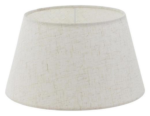 LEUCHTENSCHIRM - Creme, KONVENTIONELL, Textil (25/14cm)