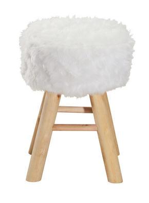 PALL - vit/naturfärgad, Trend, trä/textil (28/42cm) - Ambia Home
