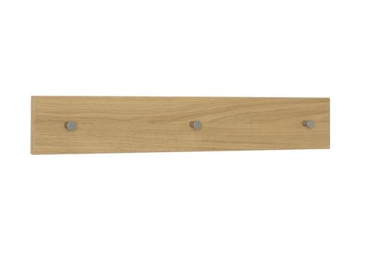 GARDEROBENLEISTE Wildeiche teilmassiv Eichefarben - Eichefarben, KONVENTIONELL, Holz (80/13/2cm)