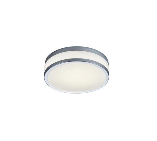 LED-DECKENLEUCHTE - Chromfarben, Design, Glas/Metall (28/8,5cm) - Helestra