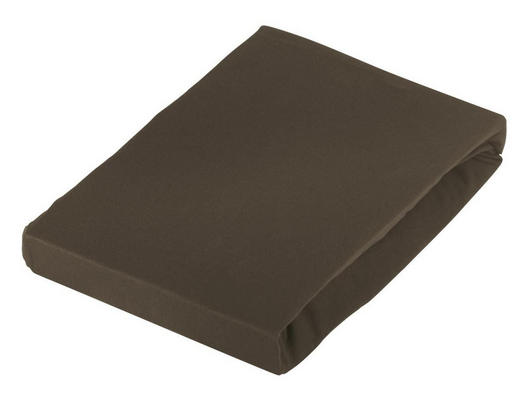 SPANNBETTTUCH Jersey Braun bügelfrei - Braun, Basics, Textil (100/200cm) - Novel