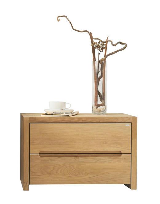 NACHTKÄSTCHEN Wildeiche massiv, mehrschichtige Massivholzplatte (Tischlerplatte) geölt Eichefarben - Eichefarben, Design, Holz (60/39/42,4cm) - Voglauer