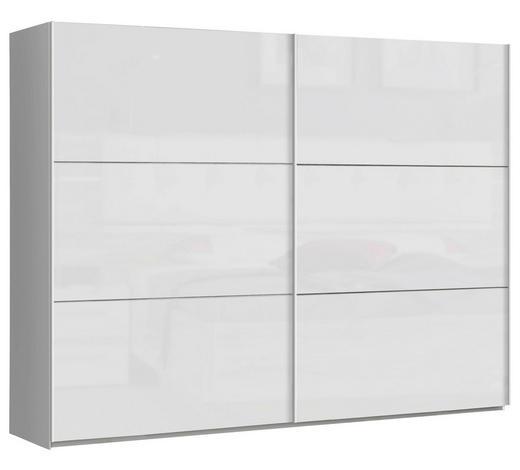 SCHWEBETÜRENSCHRANK 2-türig Weiß  - Weiß, Design, Holzwerkstoff/Metall (269,9/209,7/61,2cm) - Carryhome