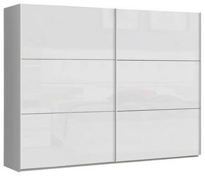 SKJUTDÖRRSGARDEROB - vit, Design, metall/träbaserade material (269,9/209,7/61,2cm) - Carryhome