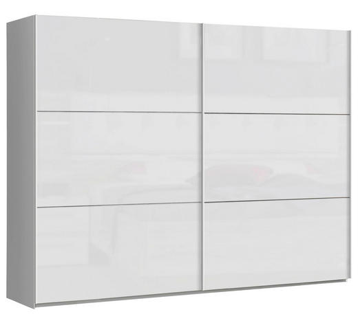 SKŘÍŇ S POSUVNÝMI DVEŘMI, bílá - bílá, Design, kov/kompozitní dřevo (269,9/209,7/61,2cm) - Carryhome