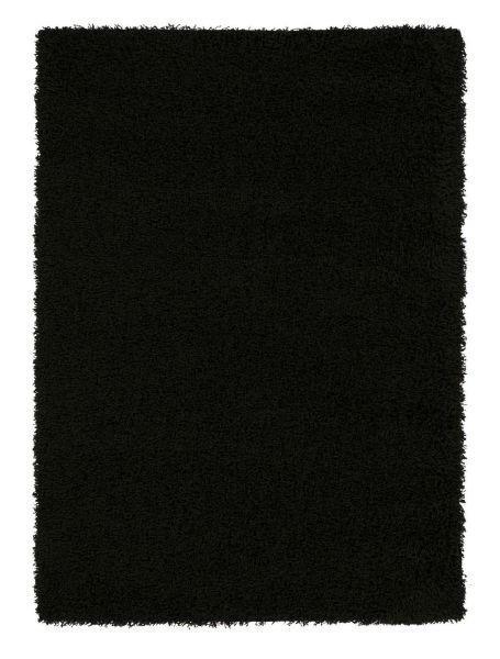 HOCHFLORTEPPICH  200/200 cm  gewebt  Schwarz - Schwarz, Basics, Textil (200/200cm) - Novel