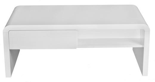 COUCHTISCH rechteckig Weiß - Weiß, Design, Holzwerkstoff (110/42/60cm) - CARRYHOME