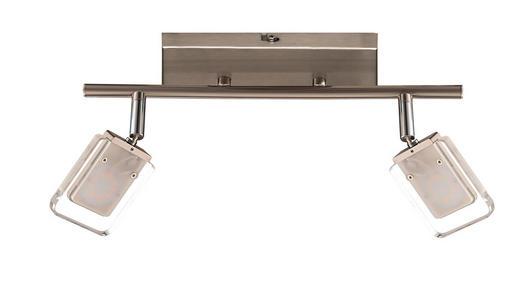 LED-STRAHLER - Nickelfarben, Design, Metall (35 19 cm)
