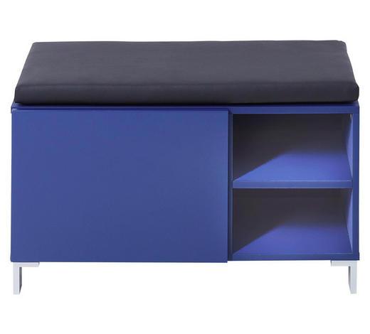 GARDEROBENBANK 80/48/39 cm - Blau/Anthrazit, Design, Holzwerkstoff/Textil (80/48/39cm) - Xora
