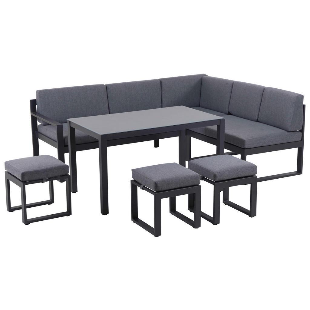 Amatio Dining-loungeset anthrazit