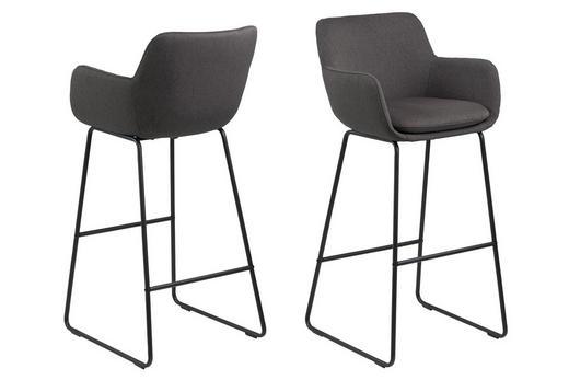 BARSKA STOLICA - tamno siva/crna, Design, metal/tekstil (52/100/53cm) - Hom`in