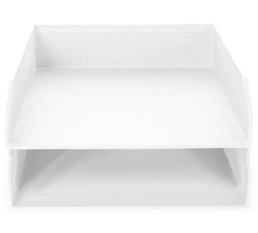 BRIEFABLAGE - Weiß, Basics, Karton (31/23/6cm)