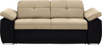 SCHLAFSOFA in Textil Schwarz, Taupe  - Taupe/Chromfarben, KONVENTIONELL, Textil (206/82/101cm) - Venda