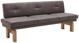 SITZBANK in Holz, Metall, Textil Eichefarben, Grau - Eichefarben/Grau, KONVENTIONELL, Holz/Textil (204/87/67cm) - Valnatura