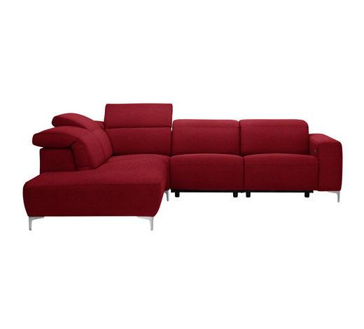 WOHNLANDSCHAFT Rot  - Chromfarben/Rot, Design, Textil (238/290cm) - Pure Home Lifestyle