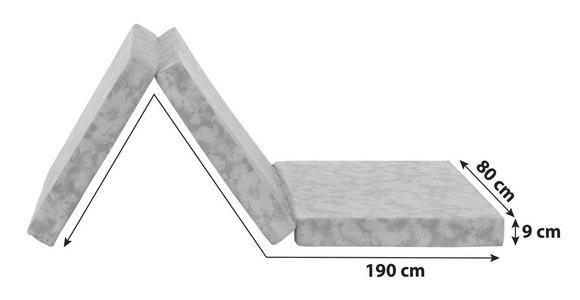 Faltmatratze Billy 80x190cm H2 - Blau, Textil (80/190cm) - Primatex