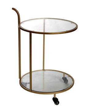 SERVERINGSVAGN - guldfärgad, Design, metall/glas (51/77cm)