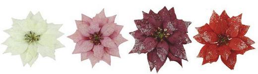 Dekoclip-Set 4-tlg. - Bordeaux/Rot, Kunststoff/Metall (11/5/11cm)