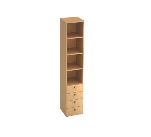 REGAL in Ahornfarben  - Ahornfarben/Alufarben, KONVENTIONELL, Holzwerkstoff/Metall (40/215,6/42cm)