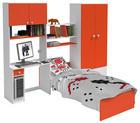 SOBA ZA MLADE - narančasta/bijela, Design, drvni materijal (274/202/50cm) - Boxxx