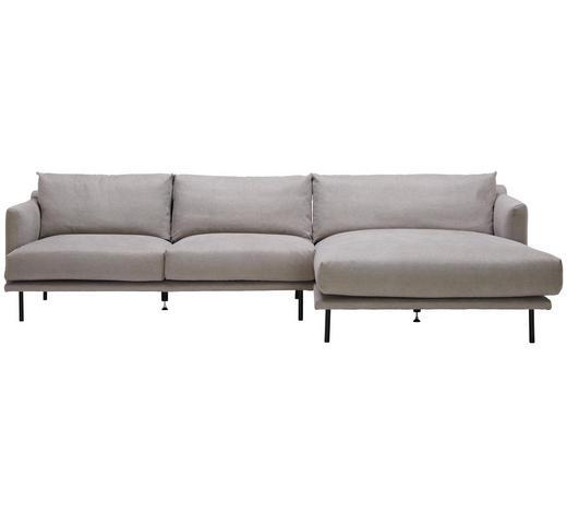 WOHNLANDSCHAFT in Textil Grau  - Schwarz/Grau, Design, Textil/Metall (285/161cm) - Lomoco