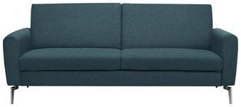 SCHLAFSOFA in Metall, Textil Blau  - Blau/Edelstahlfarben, Design, Textil/Metall (207/91/88cm) - Carryhome