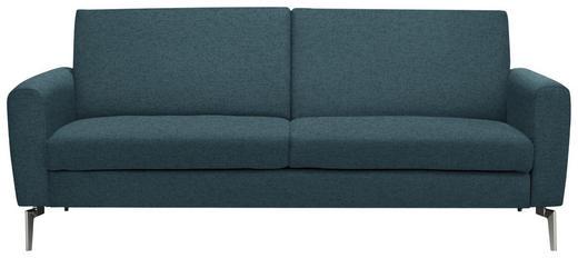 SCHLAFSOFA in Metall, Textil Blau - Chromfarben/Blau, Design, Textil/Metall (207/91/88cm) - Carryhome