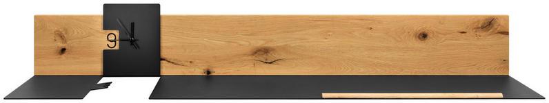GARDEROBENPANEEL 150/23/27 cm  - Eichefarben/Anthrazit, Natur, Holz/Metall (150/23/27cm) - Moderano
