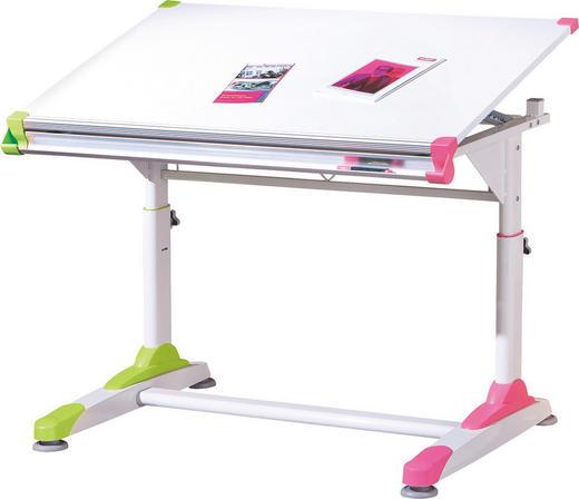 JUGENDSCHREIBTISCH Grün, Pink, Weiß - Pink/Weiß, KONVENTIONELL (100/84/66cm) - Carryhome