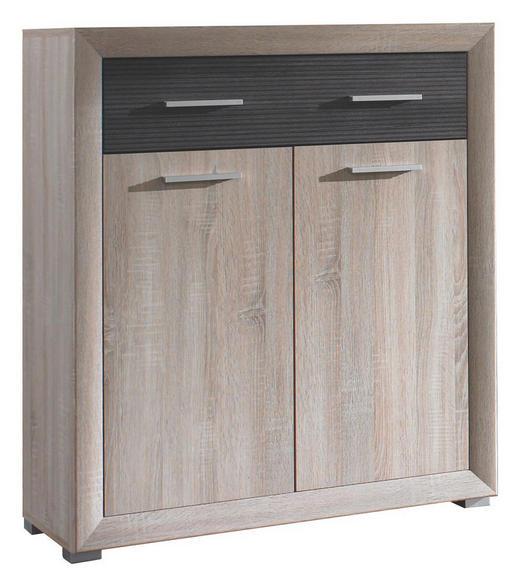 SCHUHSCHRANK Pinienfarben, Sonoma Eiche - Silberfarben/Pinienfarben, Design, Kunststoff (90/102/39cm) - BOXXX