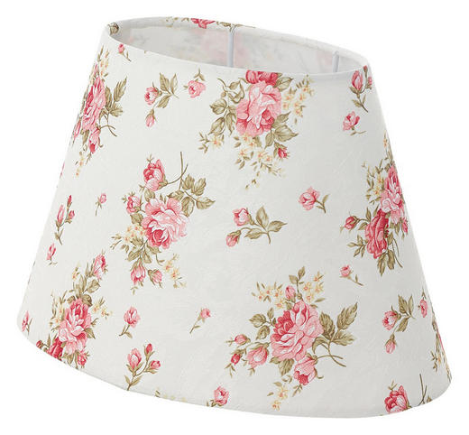 LEUCHTENSCHIRM  Rosa, Weiß  Textil  E27 - Rosa/Weiß, LIFESTYLE, Textil (25/16cm) - LANDSCAPE