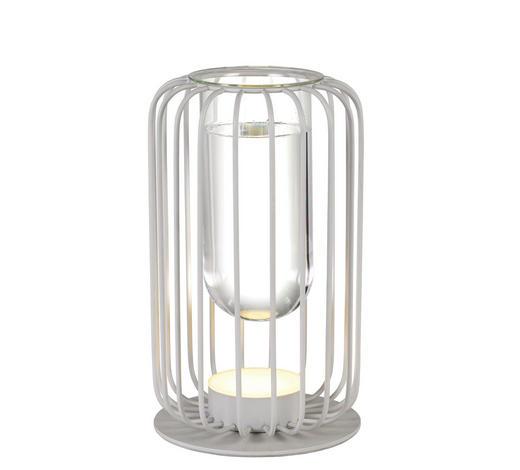 LED-TISCHLEUCHTE   - Klar/Weiß, Trend, Glas/Metall (18cm) - Novel