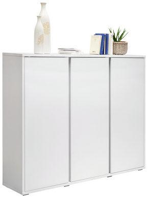 SKOSKÅP - vit, Klassisk, träbaserade material (145/120/34cm) - Xora