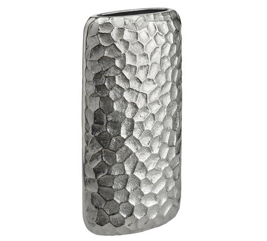 VASE 32 cm - Nickelfarben, Design, Metall (15,5/32/7cm) - Ambia Home