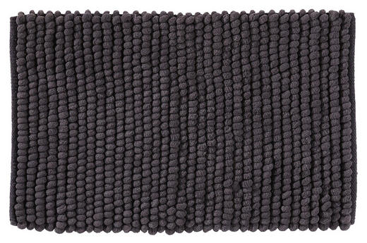 BADEMATTE in Anthrazit 50/80/ cm - Anthrazit, Basics, Kunststoff/Textil (50/80/cm) - Esposa