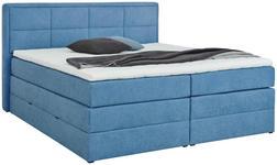 BOXSPRINGBETT 180/200 cm  in Blau  - Blau/Schwarz, KONVENTIONELL, Kunststoff/Textil (180/200cm) - Esposa