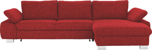 WOHNLANDSCHAFT - Rot/Alufarben, Design, Textil/Metall (316/184cm) - Beldomo System