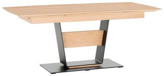ESSTISCH in vollmassiv Kerneiche Anthrazit, Eichefarben - Eichefarben/Anthrazit, Design, Holz/Metall (190(290)/88/95/76cm) - Valnatura