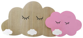 GARDEROBENLEISTE - Pink/Naturfarben, Design, Holz/Holzwerkstoff (48,7/22/5cm) - My Baby Lou