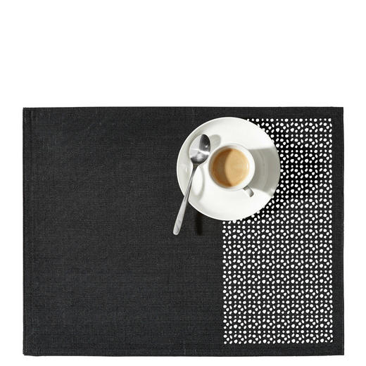 TISCHSET - Schwarz, Design, Textil (35/45cm) - Esposa