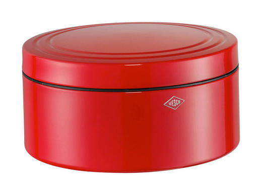 Gebäckdose inkl. Timer - Rot, Basics, Metall (25/25/13cm) - Wesco