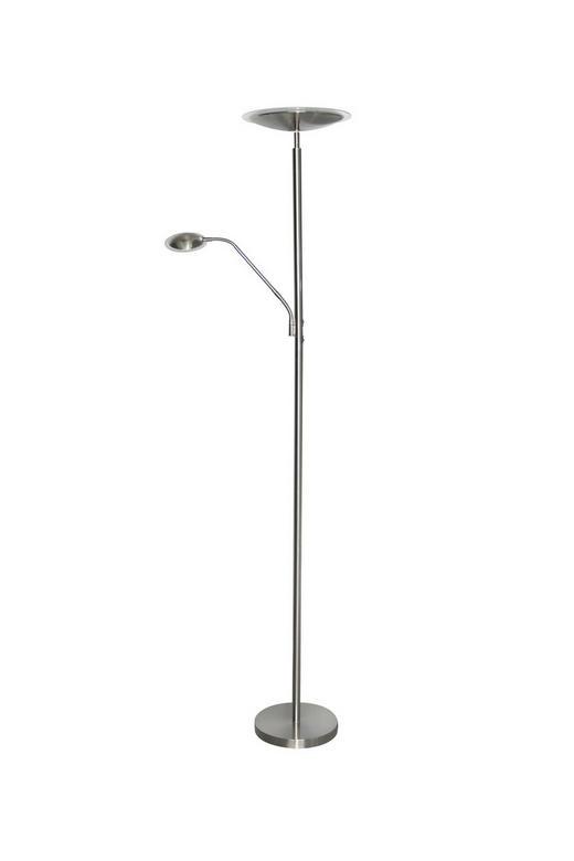 LED STOJACÍ LAMPA - barvy niklu, Design, kov/umělá hmota (28/180cm) - BOXXX