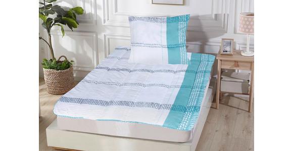 Bettenset Sandra - Türkis/Grau, KONVENTIONELL, Textil - Primatex