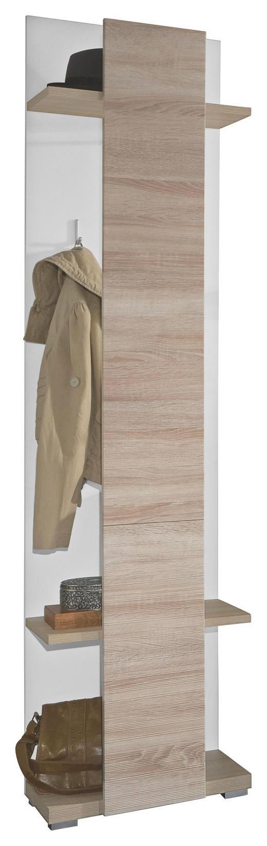 GARDEROBENPANEEL geschroppt, sägerau Eichefarben, Weiß - Eichefarben/Weiß, Design (50/207/30cm) - Xora