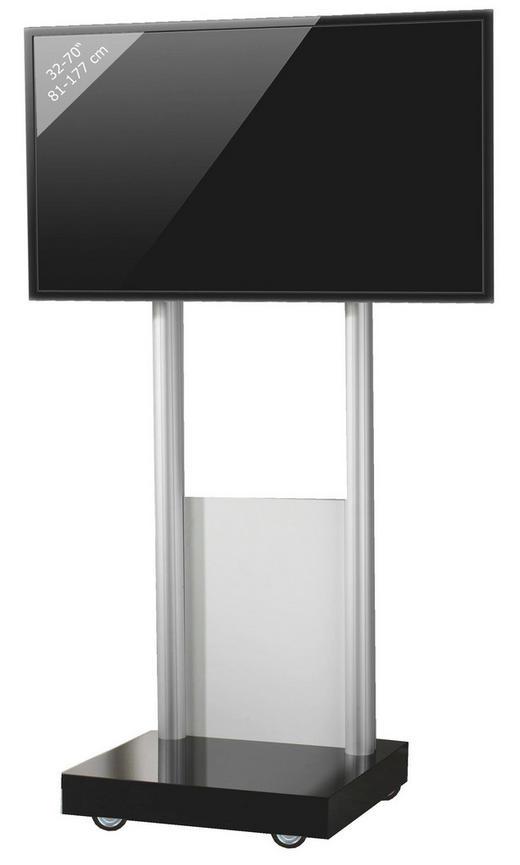 TV-RACK Melamin Silberfarben - Silberfarben, KONVENTIONELL, Metall (70/177/65cm)