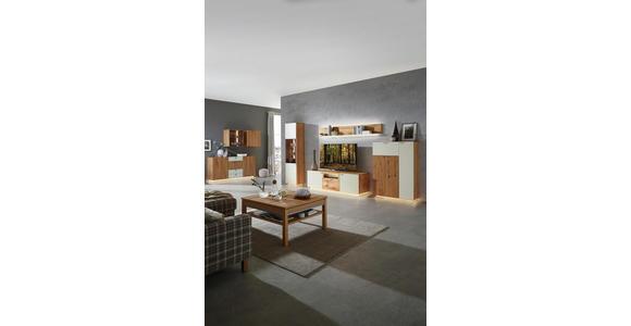 WOHNWAND Asteiche furniert Eichefarben, Champagner  - Champagner/Eichefarben, KONVENTIONELL, Glas/Holz (352/200/55cm) - Voleo