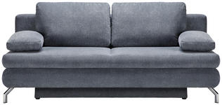 SCHLAFSOFA in Textil Grau  - Chromfarben/Grau, Design, Textil/Metall (200/91/92cm) - Novel